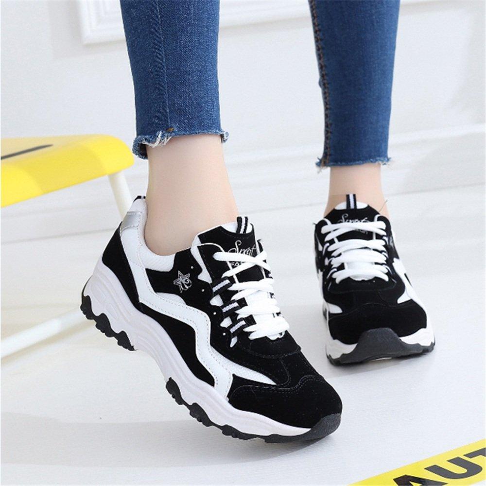 LVZAIXI Schuhe Breathable Sportschuhe Freizeit koreanische Version Version Version Student Schuhe Flache Laufschuhe gemütlich (Farbe   Schwarz größe   EU36 UK4 CN36) bac87a