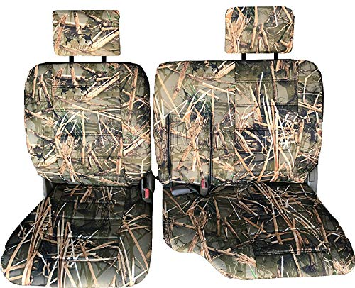 Toyota Pickup 1990-1995 Front 60/40 Split Bench A57 Seat Cover Triple Stitched Thick Custom Made for Exact Fit (Muddy Water...