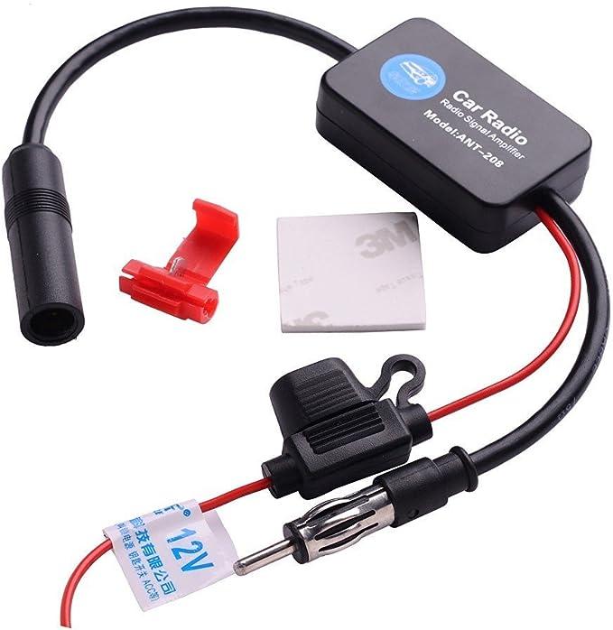 Ant 208 Radio FM Amplificador de señal Booster/antena para ...