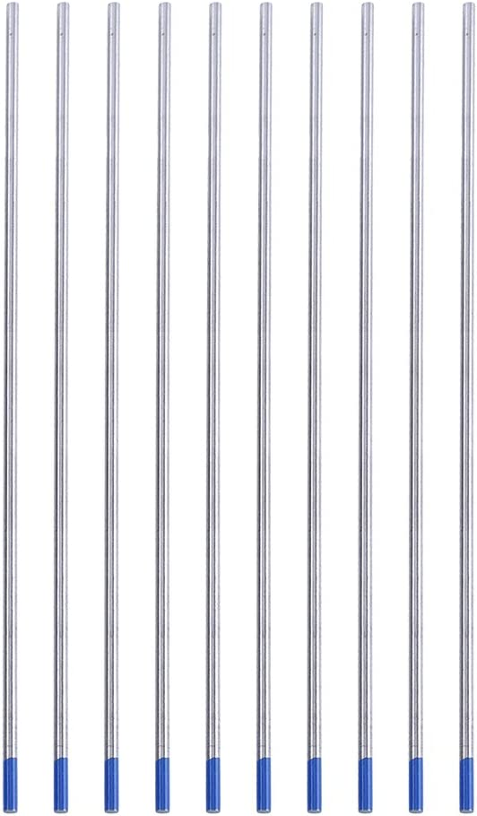 10 /électrodes de tungst/ène /électrodes de soudure 1,8 /à 2,2/% /électrodes laitonn/ées pointe bleue 1,0//1,6//2,4 mm