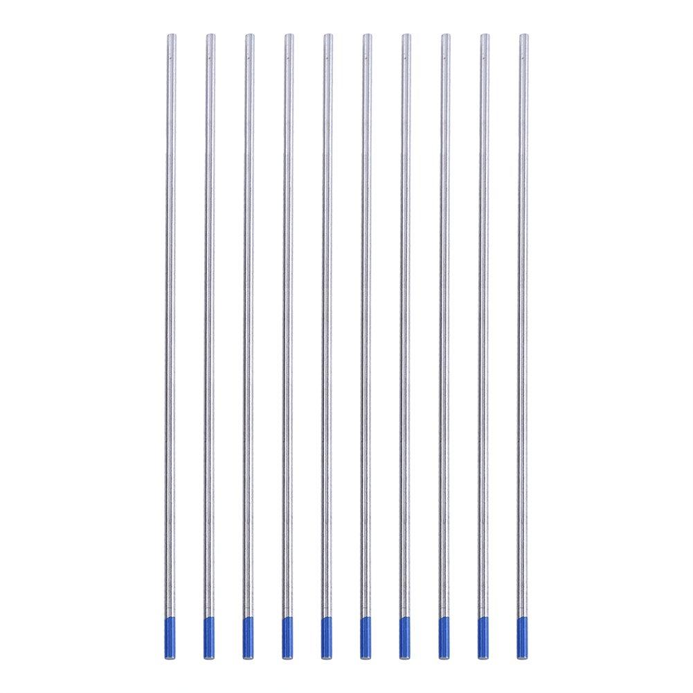 WL20 Electrodo Lantano de soldadura de tungsteno azul para la soldadura DC de aceros inoxidables aluminio,1.0//1.6//2.4mm 1 caja 2.4 * 150mm 10pcs aleaciones de n/íquel