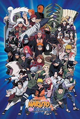 Amazon.com: Póster de personajes de Naruto, 24.0 x 36.0 in ...