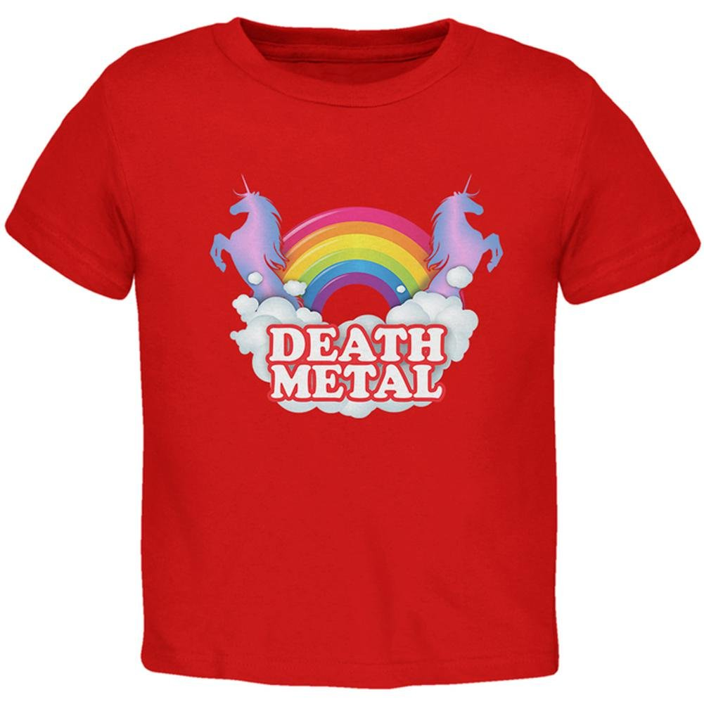 Death Metal Rainbow Unicorns Toddler T Shirt