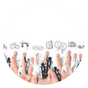 my-puzzle-design alfombrilla de ratón dedo sonriente por un sÃmbolo de la red social de negocios: Amazon.es: Electrónica