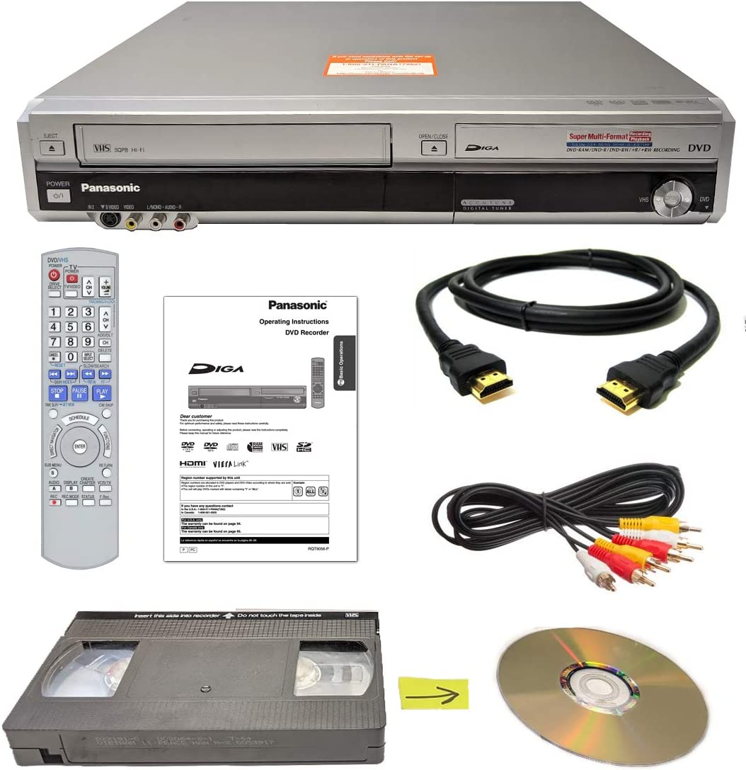 Panasonic VHS to DVD Recorder VCR Combo w/ Remote, HDMI