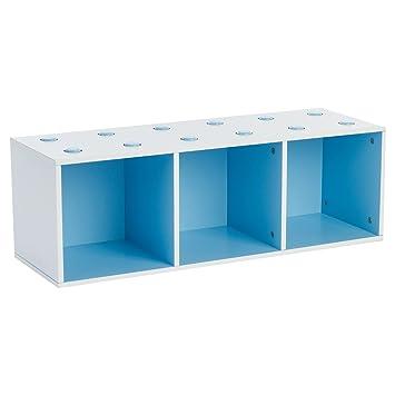 Meuble Cube Trio Empilable Bleu Et Blanc Amazon Fr Bebes