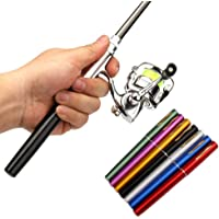 Pen Fishing Rod Reel Combo Set Premium Mini Pocket Collapsible Fishing Pole Kit Telescopic Fishing Rod + Spinning Reel…