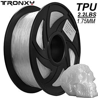 Filamento flexible para impresora 3D de TPU, 1,75 mm, color claro ...