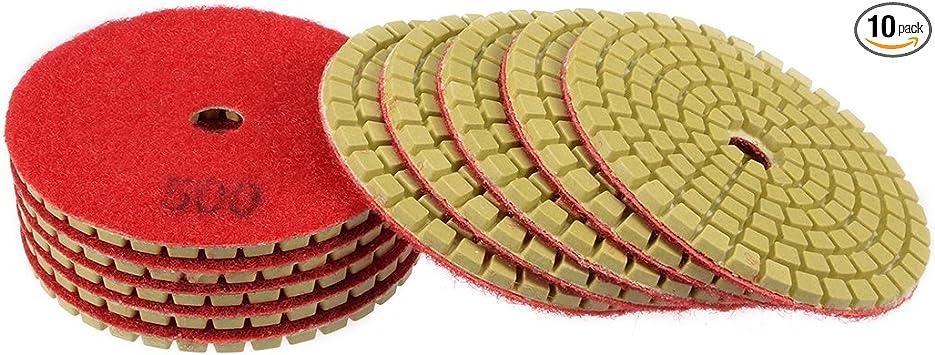 4 Inch Diamond Resin Polishing Pads Sanding Pad for Marble Stone Concrete Tile