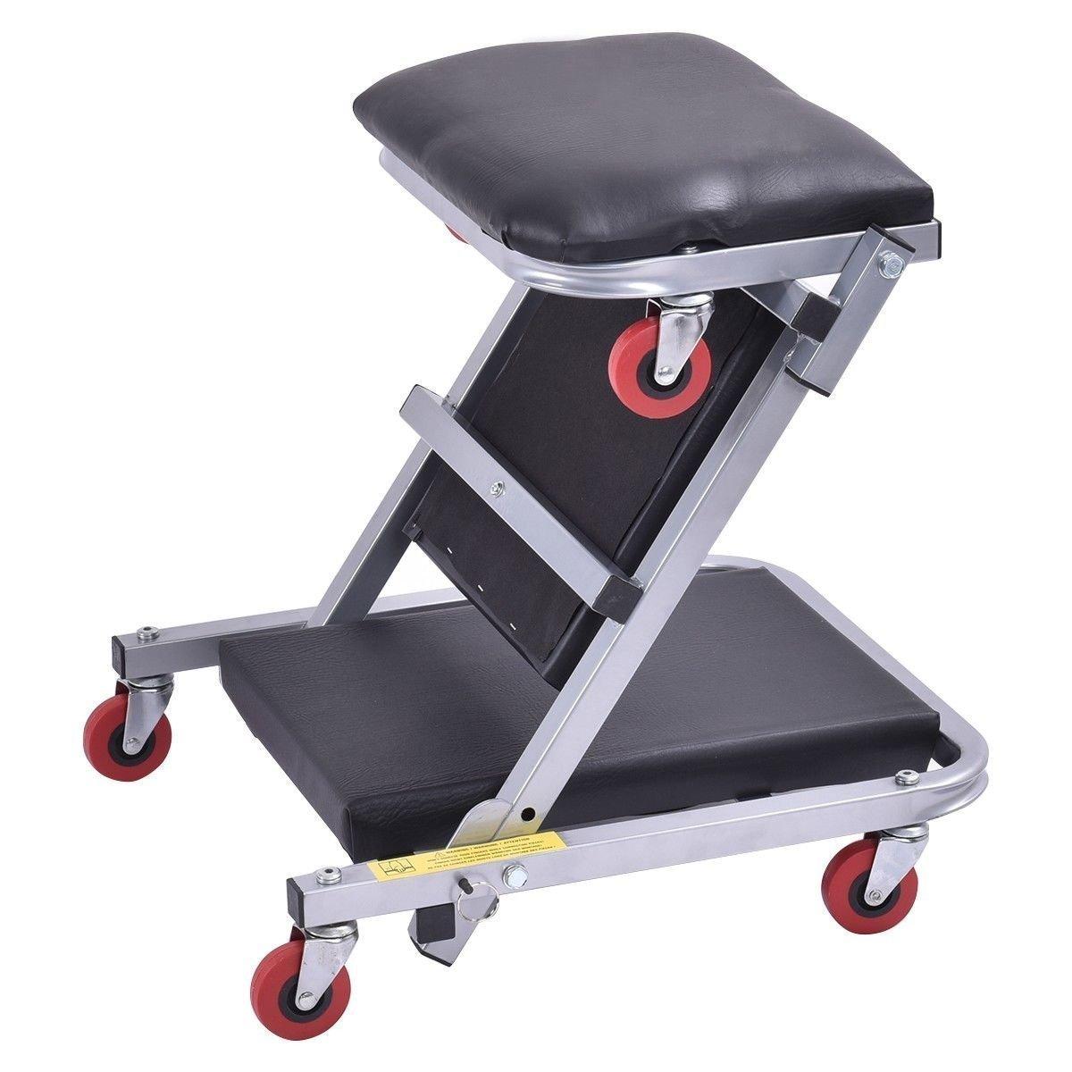 Goplus 40  Foldable Z Creeper Seat Rolling Chair Mechanics Garage 2 In 1 Work Stool  sc 1 st  Amazon.com & Amazon.com: Roller Seats u0026 Creepers - Garage u0026 Shop: Automotive ... islam-shia.org