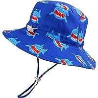 Baby Sun Hat Toddler Summer UPF 50+ Sun Protection Baby Boy Girl Infant Beach Wide Brim Bucket Adjustable Kid Cap