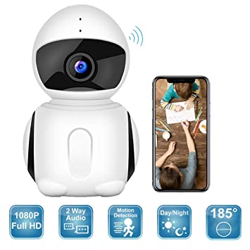 Wireless Security Camera, 2019 Upgraded IKARE 1080P Indoor Home Camera for  Baby, Surveillance Remote Monitor with Night Vision, Motion Detection, Pet