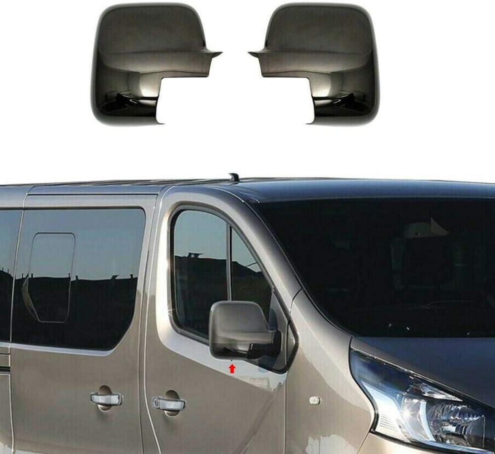 NV300 Talento Both Sides ABS Dark Chrome Wing Mirror Cover Fits Vivaro//Trafic