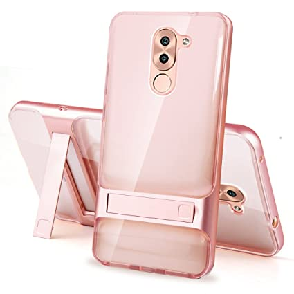 Huawei Mate 9 Lite Case - Anti Scratch Ultra Thin Slim Fit Dual Layered Hybrid Metal Borders PC + TPU Soft Transparent Case for Huawei Mate 9 Lite ...