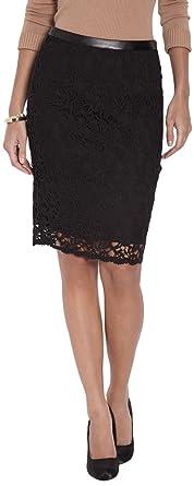 Morgan Jadel - Falda para Mujer, Color Negro, Talla 34: Amazon.es ...