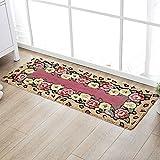 HOMEE Kitchen Mats Water Absorption Non-Slip Rug Feet Suction Mat Bed Mattress Entrance Mats Long,Red,45 × 65+45120Cm