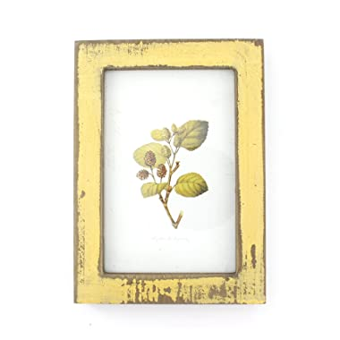 4x6 Inches Simple Rectangular Desktop Family Picture Photo Frame (Yellow)