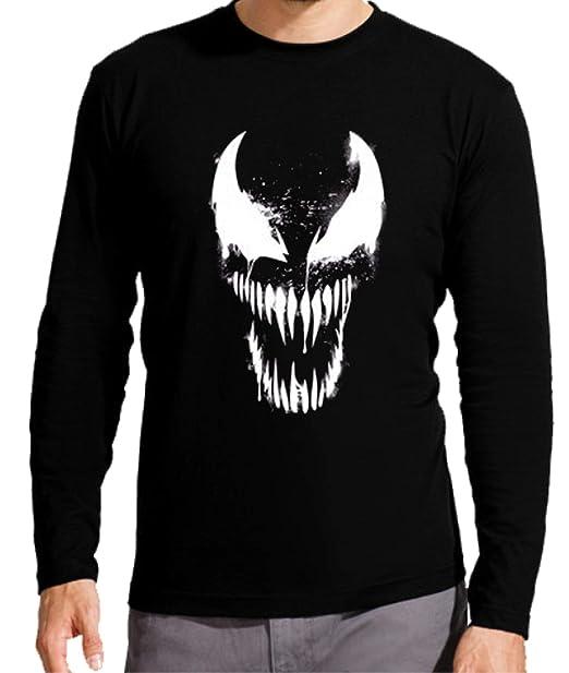 Camiseta Manga Larga de Hombre Spiderman Venom Comic: Amazon.es: Ropa y accesorios
