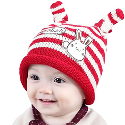 Men's Hats Bunny Rabbit Beanie Hat Baby Girls Boys Toddler Crochet Knit Winter Earflap Caps Fall Winter Knit Beanie Hat Baby Ears Headgear Carefully Selected Materials