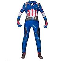 Captain America Kostuums The Avengers Superhero Bodysuit Jumpsuit Volwassenen Kinderen Lycra Spandex Zentai Halloween…