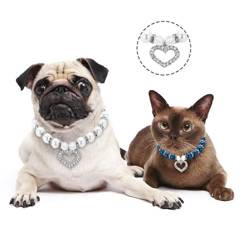 NBHUZEHUA Strass Gioielli Collana per Cucciolo di Cane Chihuahua Small Medium Dog collari Pet Accessori