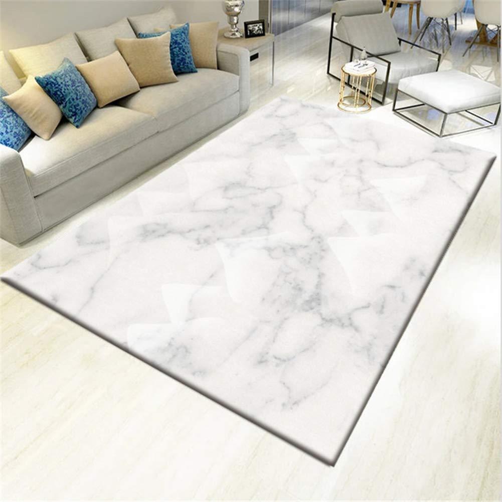 CHENQIAN Nordisch Marmor Modern Einfach Teppich Wohnzimmer Schlafzimmer Nachtmatte Multifunktional Mehrere Größen Venom Hollywood,4,120 * 160Cm