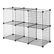 Whitmor 6070-968-BLK  Black Storage Cubes, 6-Set