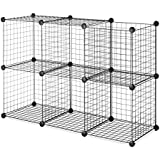 Whitmor Storage Cubes S/6, Black Wire