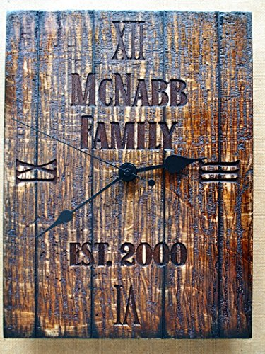 Personalized, Rustic Wall Clock | Your engraved message on a distressed wood, wall clock | Birthday gift | Business Gift | Housewarming gift