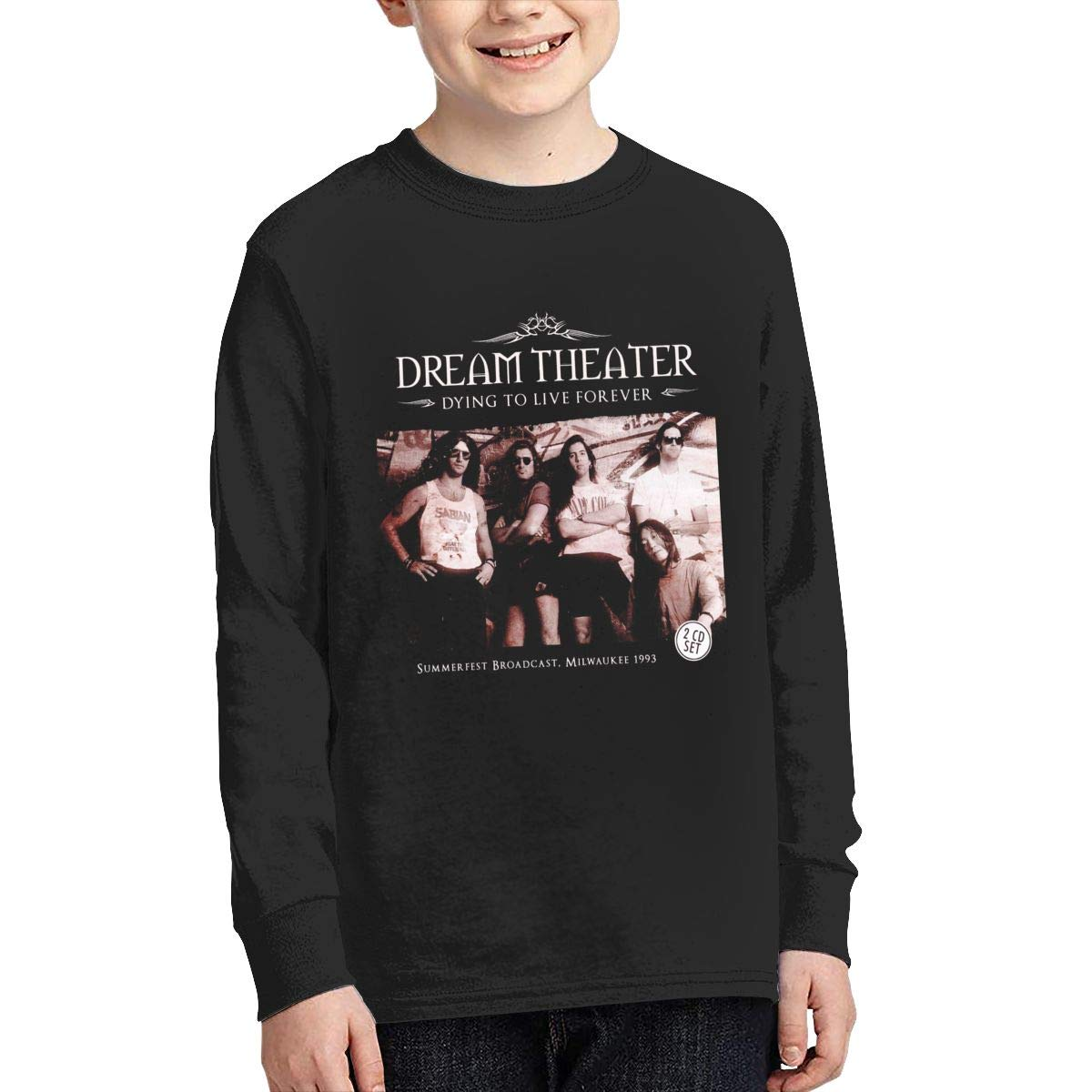 MichaelHazzard Dream Theater Tour 2019 Youth Comfortable Long Sleeve Crewneck Tee T-Shirt for Boys and Girls