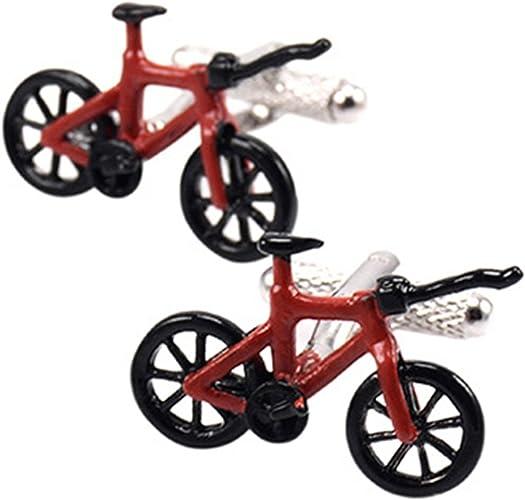 Epinki Hombre Negro Rojo Bicicleta Gemelos para Esmoquin Camisa ...