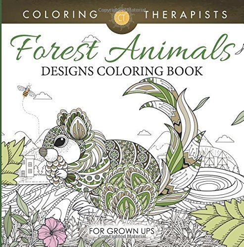 Amazon Forest Animals Designs Coloring Book For Grown Ups