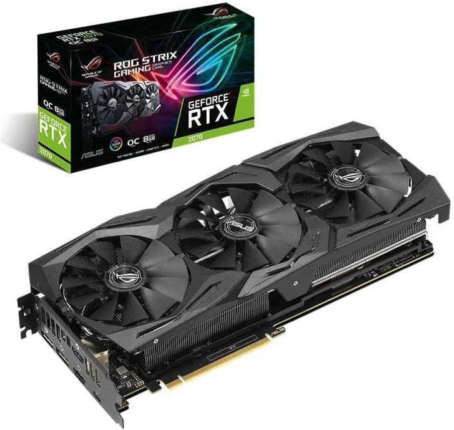 Asus ROG-STRIX-RTX 2070-O8G-GAMING computer game graphics card Support 4 screen output