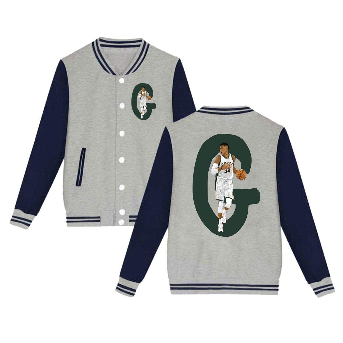 Celinion Giannis 34# Antetokounmpo Unisex Baseball Uniform Jacket Sport Coat for Womens Mens Youth
