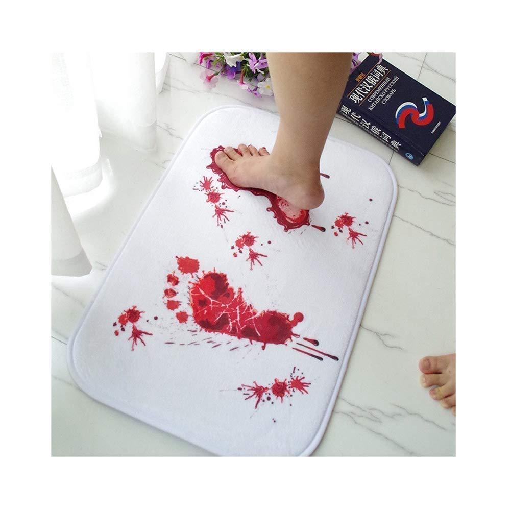 Alfombrilla de baño con marcas de sangre, alfombrillas británicas para baño con manchas de sangre, huellas creativas por Shayson; alfombra antideslizante