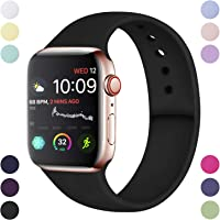 Hamile Compatible With Apple Watch Strap 38mm 42mm 40mm 44mm, Soft Silicone Waterproof Replacement Strap for Apple Watch Series 5/4/3/2/1, Multi Colours