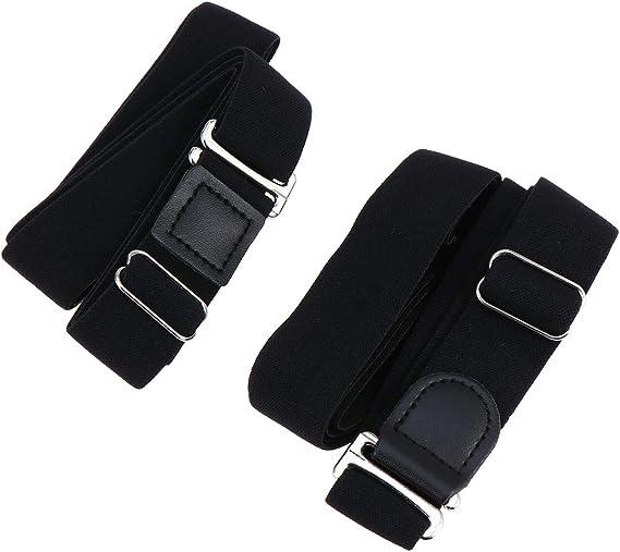 SUPVOX 2 unids Ajustable Sujetador Camisa Antideslizante Liga para Camisa Cinturón de Bloqueo Ropa Interior para Mujeres Hombres (Negro): Amazon.es: Ropa y accesorios