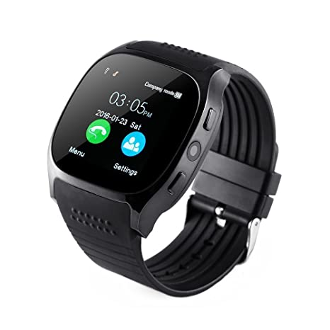 Reloj inteligente Bluetooth con ranura para tarjeta SIM, pantalla táctil Hinmay SmartWatch Deportes Monitor de