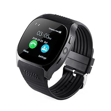 Smartwatch Andriod iOS, pour poignet montre Fitness Watch téléphone intelligent avec télécommande appareil photo,