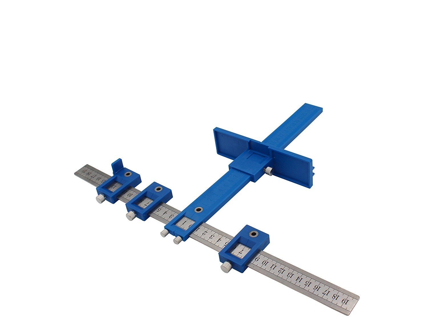Power Tools Punch Locator, Drill Guide Sleeve Cabinet Hardware Jig/Template Wood Drilling Dowelling for Installation of Handles, Knobs on Doors and Drawer Pull.