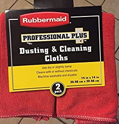 Rubbermaid Professional Plus Dusting & Cleaning Cloths - Red - 2pack (Set of 3 - Total of 6 Cloths)