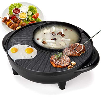 Barbacoa Coreana Ahumado Sin Humo Parrilla Eléctrica Y Horno De Asar Hotpot Horno De Cocina Eléctrica