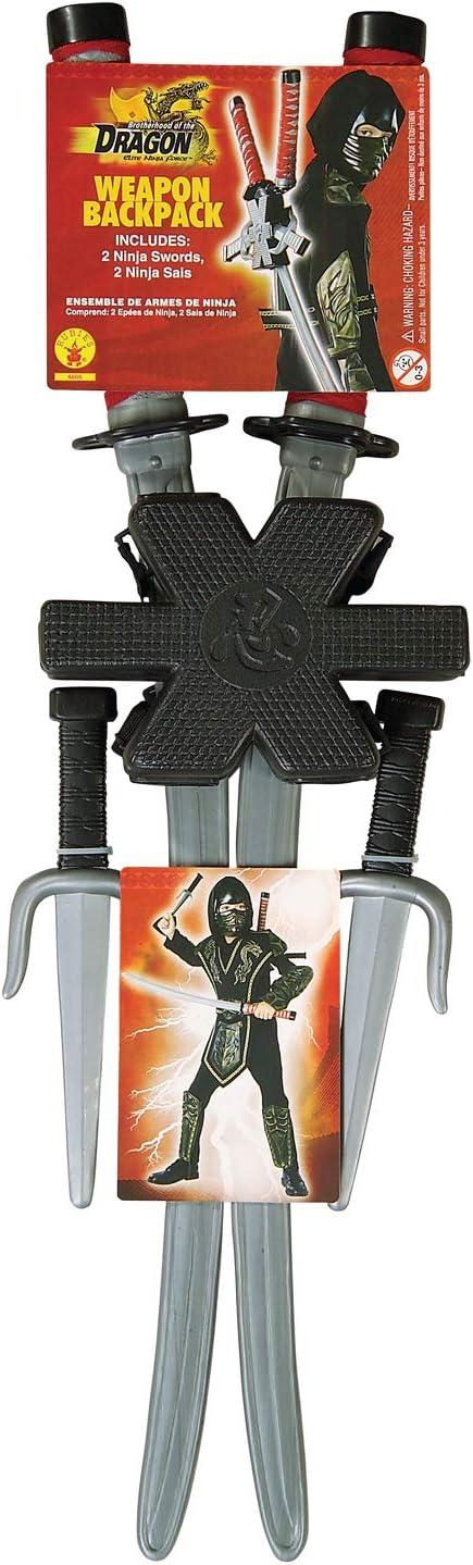 Rubies Dragon Ninja Childs Backpack Weapon Set