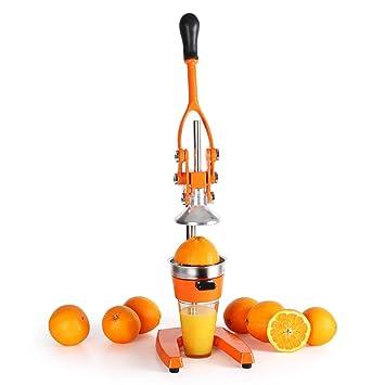 oneConcept EcoJuicer XXL exprimidor manual de palanca para cítricos (desmontable, fácil manejo, diseño elegante, acero inoxidable) - naranja: Amazon.es