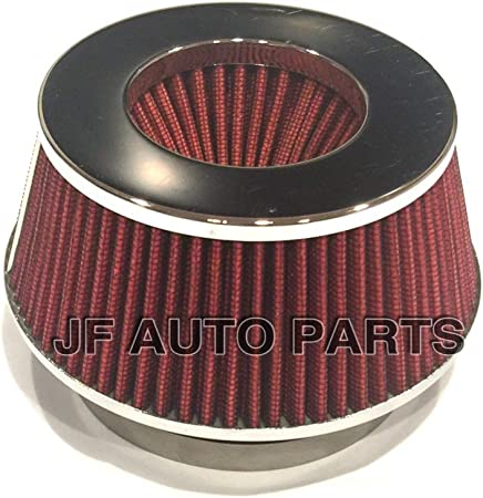 """Red Universal 3/"""" Car Air Filter Clean Intake High Flow Short RAM//COLD Round Cone"""