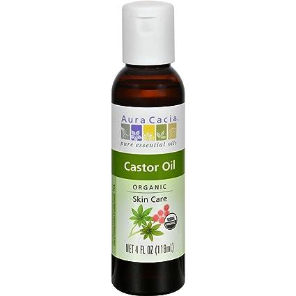 Aura Cacia - Cuidado orgánico de la piel del aceite de ricino - 4 la Florida