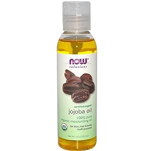 Solutions Certified Organic Jojoba Oil Now Foods 4 oz Liquid