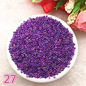 New 1000 pcs 2mm Charm Glass Beads Necklace DIY Bracelet for Making Jewelry Accessories,27