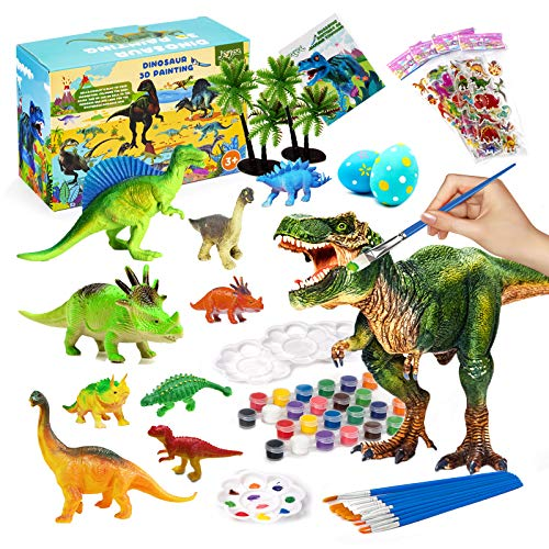 Joyjoz Kids Crafts and Arts Set Painting Kit, Painting Dinosaurs Toys for Boys Girls Age 3 4 5 6 7 Years Old Kid Creativity DIY Gift Easter Party Favors