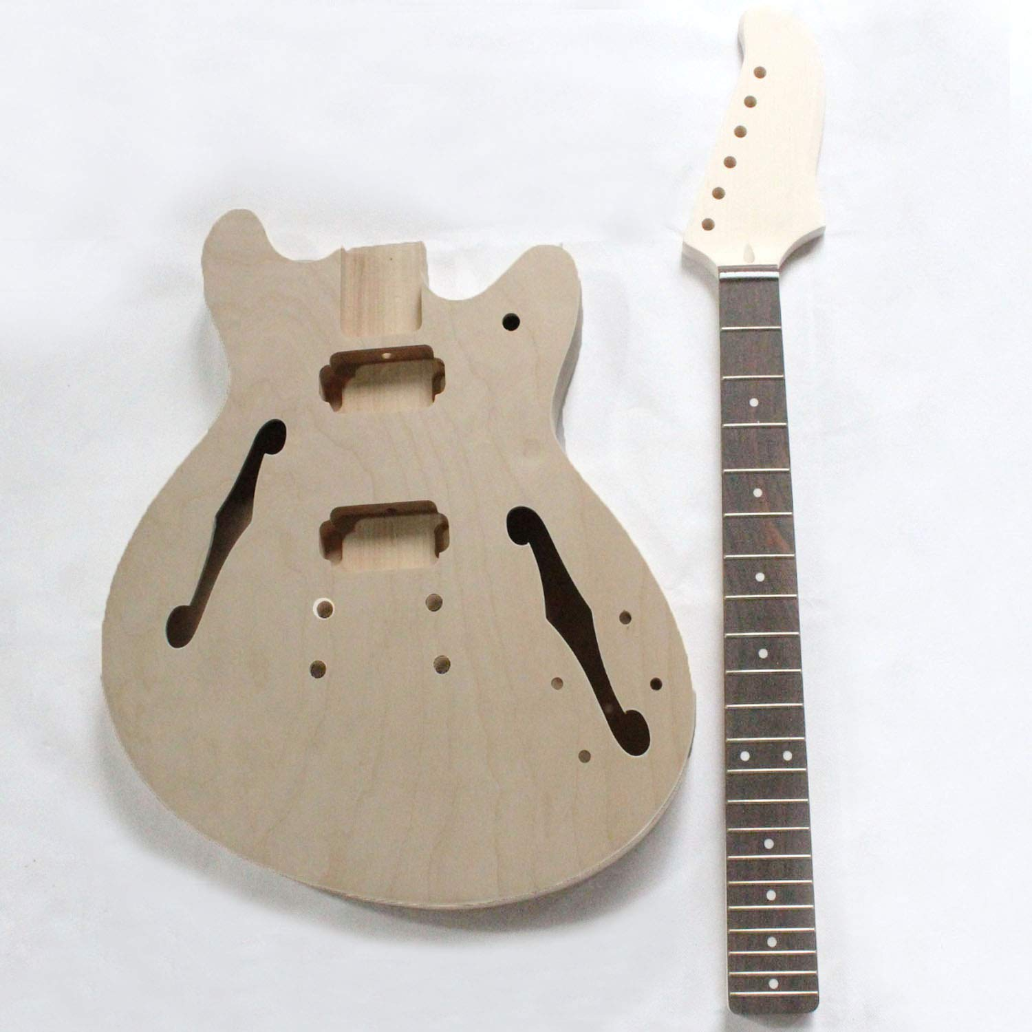 PROJECT ELECTRI SEMI-HOLLOW GUITAR BUILDER KIT DIY WITH ALL ACCESSORIES by MUSOO
